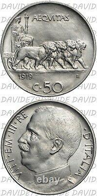 01008 Regno Italia Vittorio Emanuele III 50 Centesimi 1919 Fdc Periziata