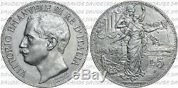 0179 REGNO ITALIA VITTORIO EMANUELE III 5 LIRE CINQUANTENARIO 1911 q FDC