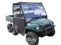 02-08 Polaris Ranger 800,700 Clear Folding Windshield. 1/4 THICK Polycarbonate