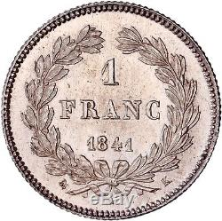 1 Franc Louis-Philippe 1841 K Bordeaux de toute beauté FDC+++ exceptionnelle