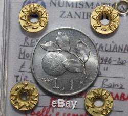 1 Lira 1947 Arancia Repubblica Italiana rarissima FDC (bell'esemplare)