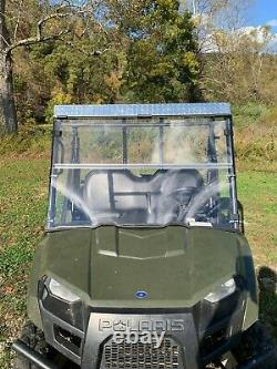 10-14 Polaris Ranger 400,500,570 Clear Folding Windshield. A Full 1/4 THICK