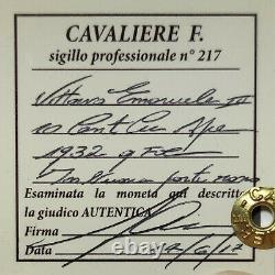 10 Centesimi Ape 1932 Rame Rosso Unc Fdc Perizia Cavaliere