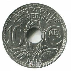 10 Centimes Lindauer Pré-Série Sans le Mot Essai 1914