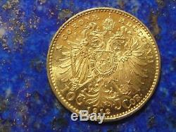 10 Corona / Couronne Autriche Francois-Joseph I or Gold 1912 UNC / NEUF / FDC
