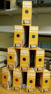 10 Kobra FDC-Alben mit je 50 Taschen für je 100 Briefe (Best. Nr. G 3)