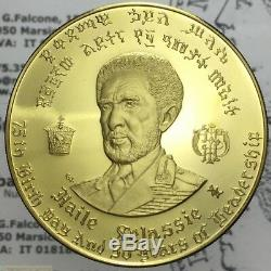 100 Dollars EE1958 1966 Oro (Ethiopia Haile Selassie) FDC PROOF 2093