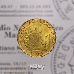 100 Lire 1950 An. IVB MCML Oro (Vaticano Pio XII) FDC LOT1978