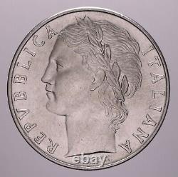 100 Lire 1955 Minerva Qfdc-fdc Repubblica Italiana Perizia Nip Grimoldi