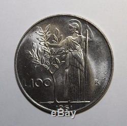100 Lire 1961 Minerva Repubblica Italiana FDC conservazione eccezionale