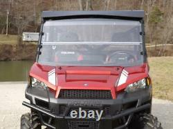 12-21 Polaris Ranger 900 XP, and 1000 Clear Folding Windshield. FULL 1/4 THICK