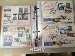 12 Alben Samml. Ersttag FDC 1945-2010 inkl. Trachten, Renner, Flugpost 20.000