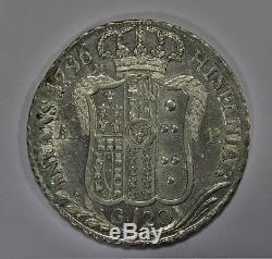 120 Grana 1796 Piastra Regno di Napoli Re Ferdinando IV di Borbone SPL/FDC