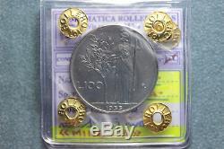 161 REPUBBLICA ITALIANA 100 Lire 1955 Roma Minerva I° tipo FDC