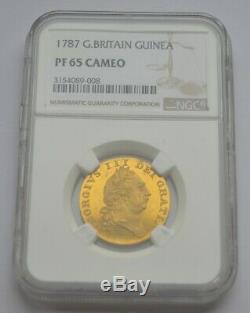 1787 Proof Guinea NGC PF65 Cameo FDC