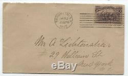 1893 Jan. 2 2ct columbian #231 FDC to Alfred Lichtenstein w PF Cert! Y4017