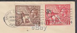 1924 British Empire Exhibition H. R. Harmer Display FDC Wembley Park Slogan enc