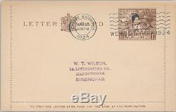 1924 Wembley Lettercard FDC Wembley Park Empire Exhibition Special Slogan