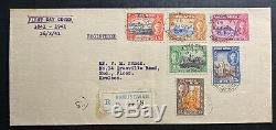 1941 Hong Kong First Day Cover FDC To Kowloon British Rule Centenary Sc 168-73