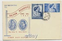 1948 silver Wedding FDC