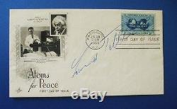1955 Atoms For Peace Fdc Signed By Edward Teller Father Of The Atom Bomb
