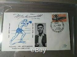 1960 Roma First Day Cover Muhammad Ali Signed Autographed Cut PSA/DNA COA liston