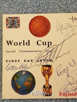1966 Multi Signed England World Champions 1st Day Cover Signed By 10