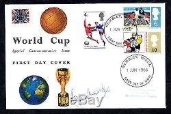 1966 World Cup FDC. Wembley FDI signed Bobby Moore. Excellent