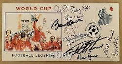 1966 World Cup First Day Cover Signed X 10 Nobby Stiles Bobby Charlton Etc