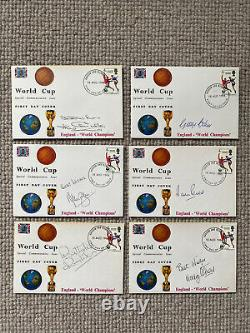 1966 World Cup First Day Covers Signed x12 Bobby Moore Alf Ramsey Charlton