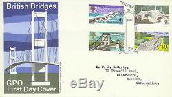 1968 Bridges FDC Error with Missing Ultramarine on 9d