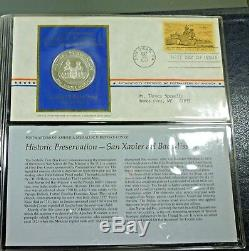 1971 Postmasters of America Medallic First Day Covers Set With 10 Silver Medals