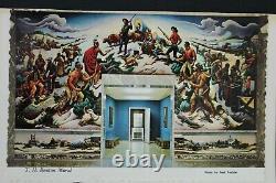 1971 SIGNED THOMAS HART BENTON FDC Postcard #1426 MURAL MISSOURI STATEHOOD RARE