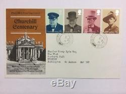 1974 Churchill FDC Pair With Churchill CDS & Winston CDS