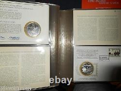 1976 / 1978 Internationl Society Of Postmasters 36 Silver Medals Pnc Fdc Album
