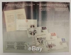 1980 Moscow Olympics PNC 42 Silver Medallic Coins Stamp First Day Cover Set USSR