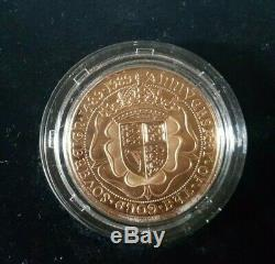 1989 500th Anniversary Gold PROOF Sovereigns. FDC Tudor Rose BOX Set COA. SUPERB