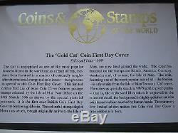 1989 Gold 1/25 Crown, Persian Isle Of Man Cat With Manx First Day Cover