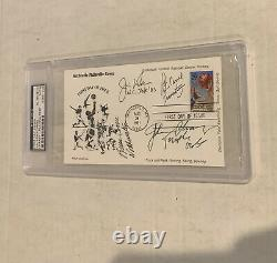 1991 Postcard First Day Cover Jim Valvano Signed Carril Chaney PSA/DNA
