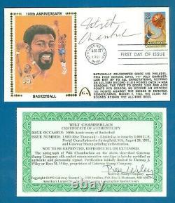 1991 Wilt Chamberlain Autographed Gateway Stamp FDC 100th. Anniversary BSKT