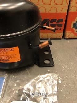 (2) Compressor ACC R-134A. 12-42V DC, N. O. S. GD30FDC
