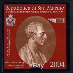 2 Euro 2004 San Marino Commemorativi Bartolomeo Borghesi Fdc Coins Rarissima