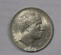 2 Lire 1906 Aquila Sabauda Regno d'Italia Re Vittorio Emanuele III FDC