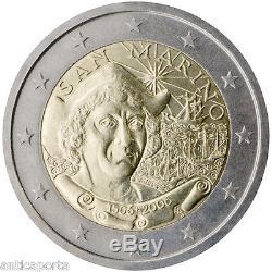 2 euro 2006 San Marino Cristoforo Colombo Moneta Rarissima Folder UNC FDC