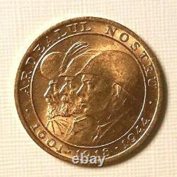 20 Lei Romania Roumanie Michele I oro gold 1944 Fdc 6,45 gr marengo