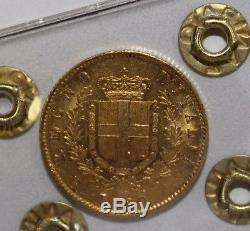 20 Lire 1871 Regno d'Italia Re Vittorio Emanuele II Roma raro qFDC/FDC
