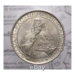 20 Lire 1932 Arg (San Marino Vecchia Monetazione) FDC LOT1481