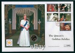 2001 Full 22ct Gold Sovereign in Queens Golden Jubilee Anniversary FDC