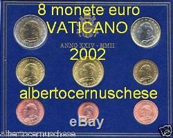 2002 8 monete fdc 3,88 EURO VATICANO BU Vatican KMS Vatikan Giovanni Paolo II