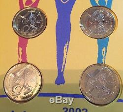 2002 First Day Cover XVII Commonwealth Games BU £2 Two Pound 4 Coin Set New Pack